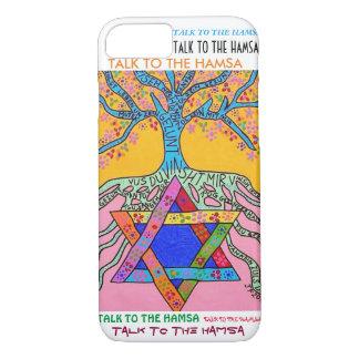 iPhone 7 case Yiddish Star of David Tree of Life