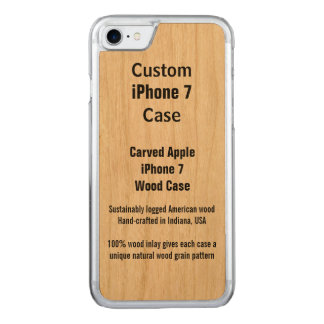 iPhone 7 Cherry Real Carved iPhone 7 Case