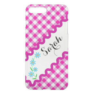 iPhone 7 Clearly Plus Deflector Case Pink Gingham