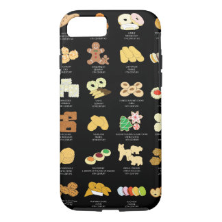 Iphone 7 Cover, Black, Cookies iPhone 7 Case