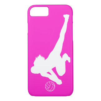 iPhone 7 Dig Silhouette White on Pink iPhone 7 Case