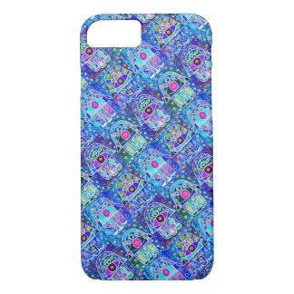 iPhone 7 Double Blue Hamsa cell II iPhone 7 Case