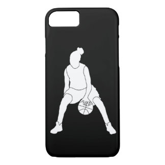 iPhone 7 Dribble Silhouette White/Black iPhone 7 Case