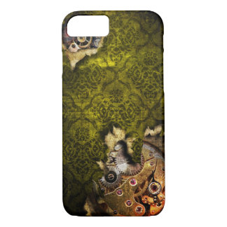 iPhone 7 Green Grunge Steampunk Case