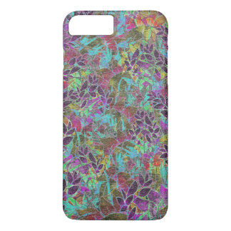 iPhone 7 Plus Case Grunge Art Floral Abstract