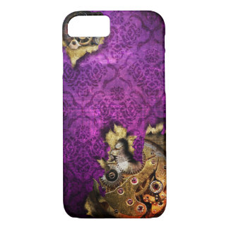 iPhone 7 Purple Grunge Steampunk Case