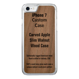 iPhone 7 Real Walnut Carved iPhone 7 Case