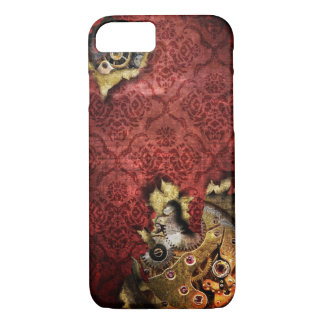 iPhone 7 Red Grunge Steampunk Case