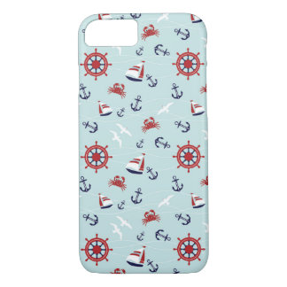 iPhone 7, Seamless Sailing Ship pattern Case