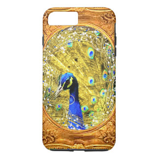 iPhone 8 OR CHANGE-PEACOCK FRAMED IN GOLD iPhone 8 Plus/7 Plus Case