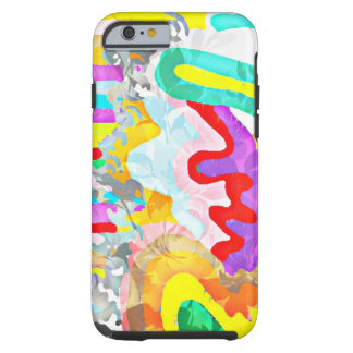 Iphone Abstract wavy art cover Tough iPhone 6 Case