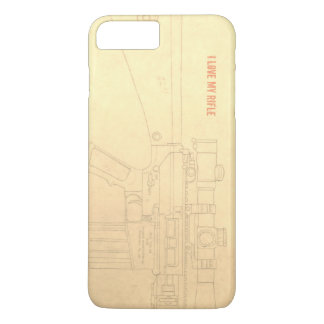 Iphone art Love my rifle ed 1 iPhone 8 Plus/7 Plus Case