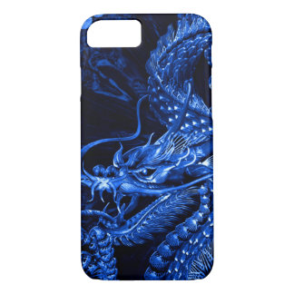 iPhone Blue Chinese Dragon Art Case
