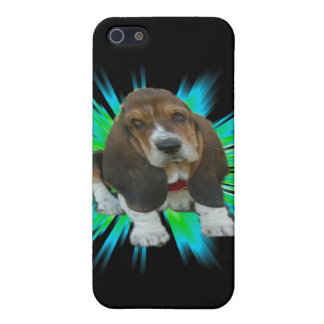 Iphone Case 4/4 Baby Basset Hound Sheldon iPhone 5/5S Cover