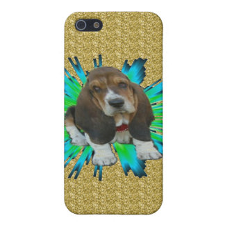 Iphone Case 4/4 Baby Basset Hound Sheldon iPhone 5 Cover
