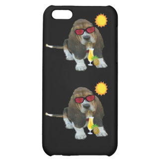 Iphone Case 4/4 Baby Basset Hound Summer Time Cover For iPhone 5C