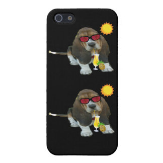 Iphone Case 4/4 Baby Basset Hound Summer Time iPhone 5/5S Cover