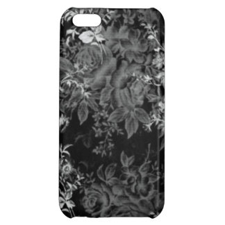 Iphone Case Black and White Floral Cover For iPhone 5C