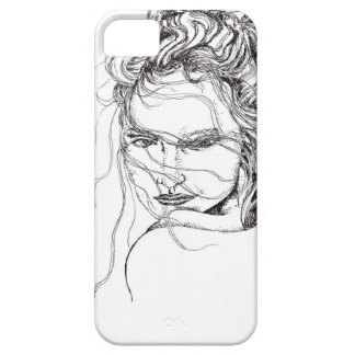 IPhone Case Black and White with Woman iPhone 5 Cover