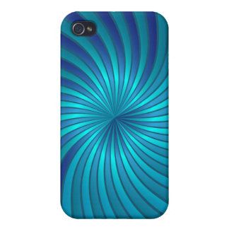 iPhone Case blue spiral vortex