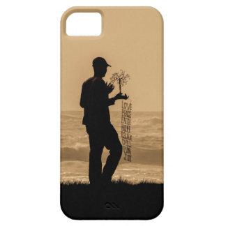 iPhone case dark silhouette man walking