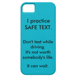 "iPhone case - ""I practice safe text"". Case For The iPhone 5"