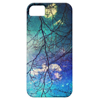 iphone case- night sky, trees, stars, magical iPhone 5 case