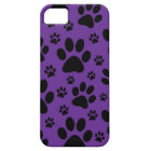 iphone case, Purple paw prints, pet, animal Barely There iPhone 5 Case
