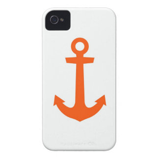 IPhone case , Red anchor on white