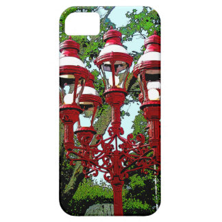 Iphone case red pole lamps.