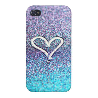iphone case, Samsung - glitter heart-photograph Covers For iPhone 4