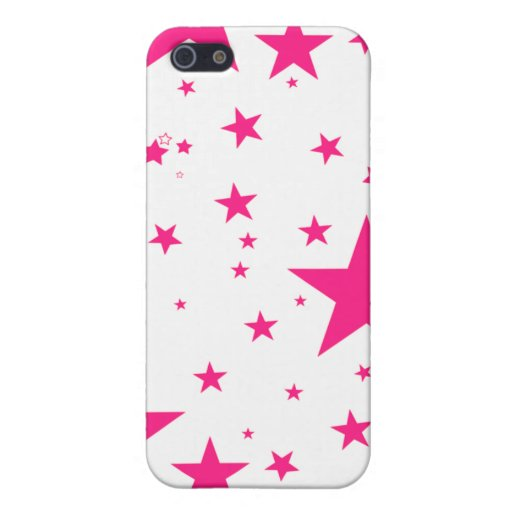 Iphone Case - Stars Pink & White Cover For iPhone 5