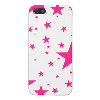 Iphone Case - Stars Pink & White iPhone 5 Case