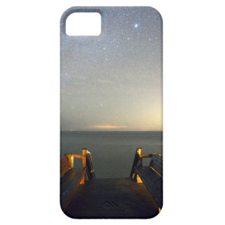 iPhone case with an image of the Night Sky & Pier.