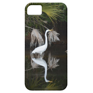 iPhone case with an image of White Egret.