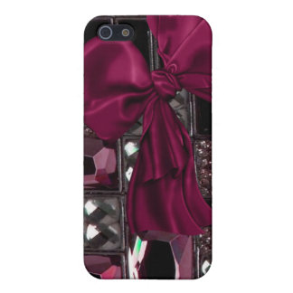 Iphone case with jeweled stones,bows and ribbon case for iPhone 5/5S