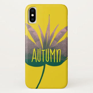 Iphone case with leave and word Autumn