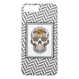 iphone case with sugar skull design