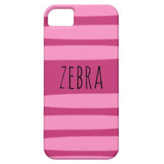 "IPhone case with word ""zebra"""