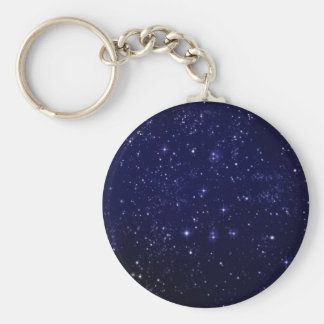 iPhone Cover Stars Basic Round Button Key Ring