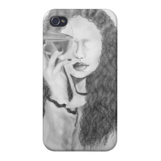 iphone cover the girl with the wine glasses iPhone 4 cases
