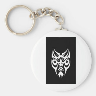 iPhone Cover White Tribal Face Tattoo Basic Round Button Key Ring