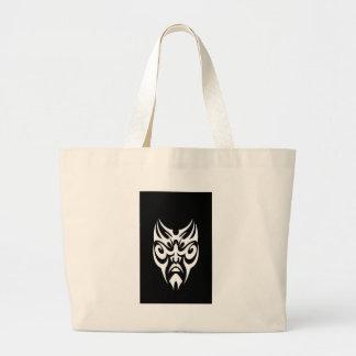 iPhone Cover White Tribal Face Tattoo Jumbo Tote Bag