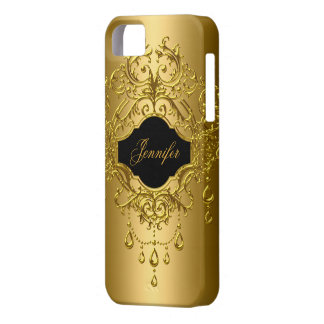 iPhone Elegant Classy Gold Black Barely There iPhone 5 Case