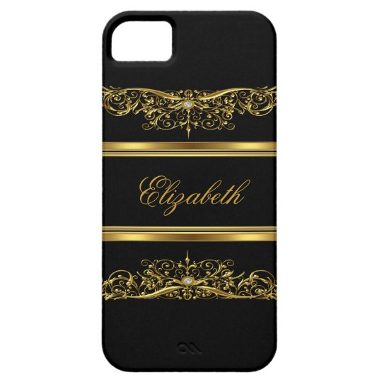iPhone Elegant Classy Gold Floral Case For The