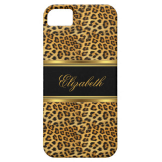 iPhone Elegant Classy Gold Leopard iPhone 5 Case