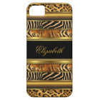 iPhone Elegant Classy Gold Mixed Animal Print iPhone 5 Cover