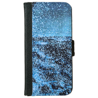 Iphone flip case/wallet funky blue splash iPhone 6 wallet case