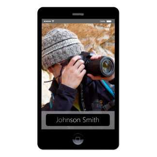 iPhone iOS Style - Personal Photo Profile Pack Of Standard Business Cards