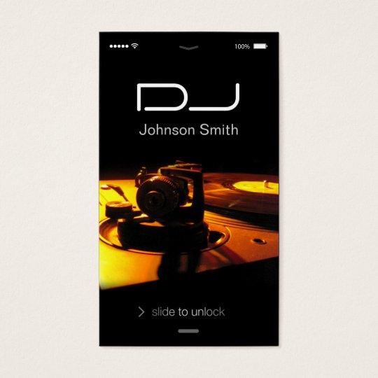 iPhone iOS Style - Turntable headphone Pub DJ